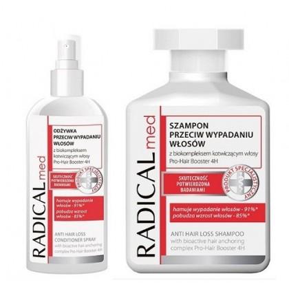 Zestaw powstrzymujący wypadanie włosów Radical Med