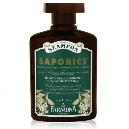 Szampon z pokrzywą i mydlnicą lekarską Saponics FARMONA