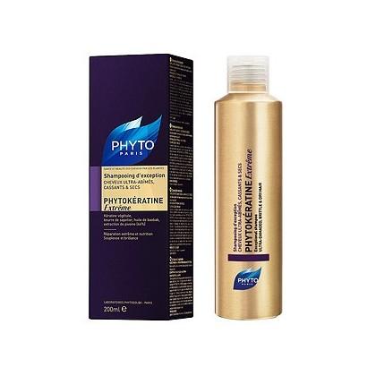 Szampon odbudowujący dla włosów zniszczonych PHYTOKERATINE EXTREME  200ml