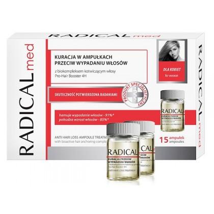 Kuracja w ampułkach powstrzymująca wypadanie włosów dla kobiet Radical Med 15 x 5ml